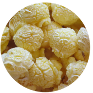 Buttered Popcorn popped fresh daily from Broadway Popcorn