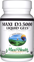 Maxi Health - Maxi Vitamin D3 5000 IU - 90 Liquid Softgels - DoctorVicks.com