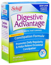 Schiff Digestive Advantage - Daily Constipation Formula - 30 Capsules - DoctorVicks.com