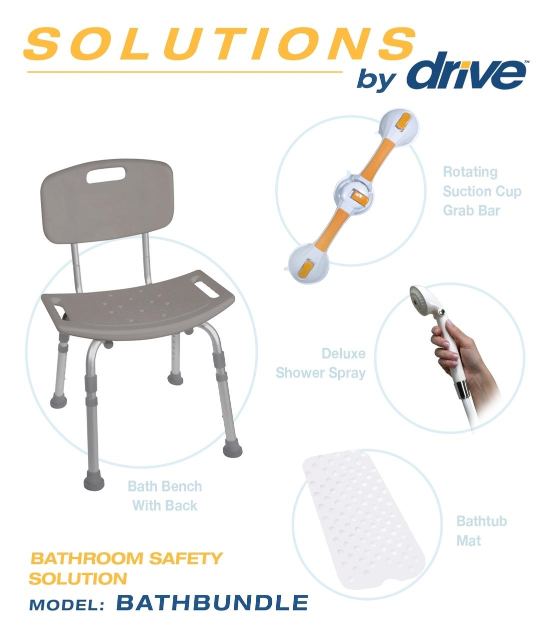 Shower Chair & Grab Bar Bath Safety Bundle - MyCare Home Medical
