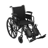 Cruiser III Light Weight Wheelchair with Flip Back Removable Adjustable Desk Arms and Elevating Leg Rest - k316adda-elr| Free Shipping, Quick Delivery