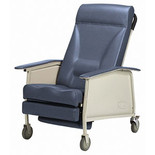 Deluxe Wide 3-Position Recliner, Blueridge