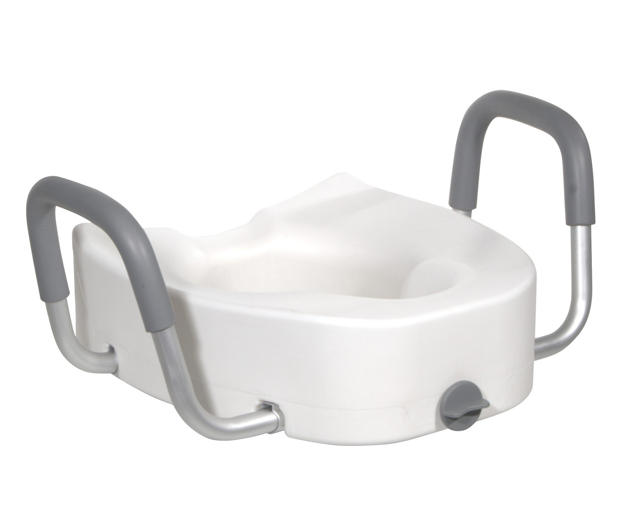 Raised Elongated Toilet Seat | Riser with Arm