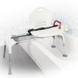 Sliding Bath Tub Transfer Bench- rtl12075 ( in use, lifestyle image )  Free Shipping, Quick Delivery