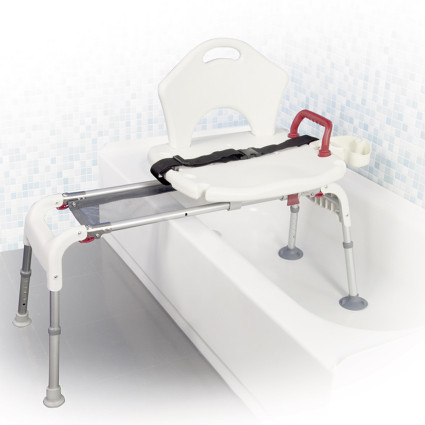 sliding bath tub transfer bench rtl12075 in use lifestyle image free shipping