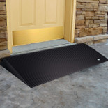 Rubber Threshold Ramp for Wheelchairs, Angled Threshold Entry Mat, EZ Access, 2.5 Inch