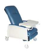 3 Position Heavy Duty Bariatric Blue Ridge Geri Chair Recliner - d574ew-br| Free Shipping, Quick Delivery