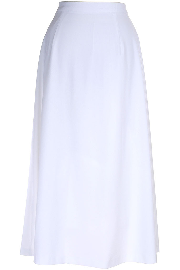 Long modest skirt classic a line in white