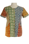 Short sleeve stamped pattern top
