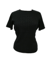 Bamboo pattern top in black