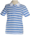Polo striped top in blue
