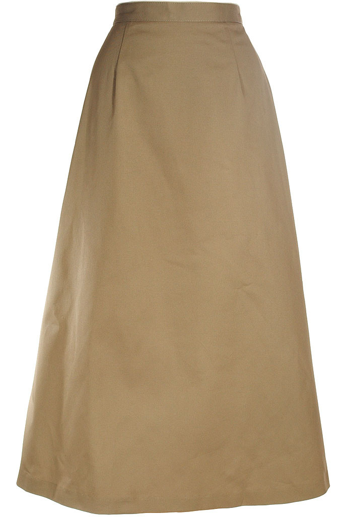 modest skirt classic a line in khaki twill