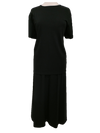 Ribbed skirt/top set, 1-size in black