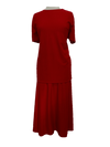 Ribbed skirt/top set, 1-size in red