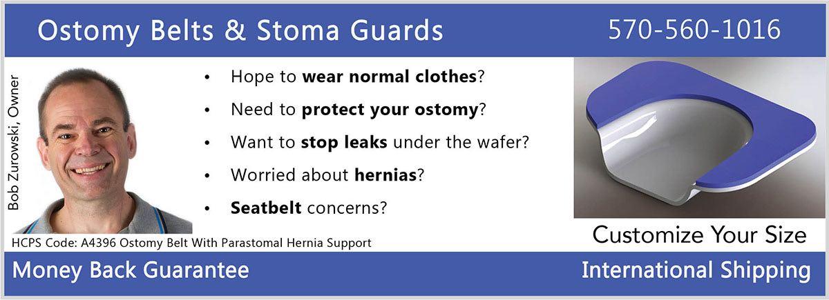 Stomaplex Ostomy Belt and Stoma Guards