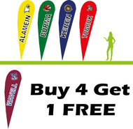 5 x 3.5m Teardrop School Flag Bundle