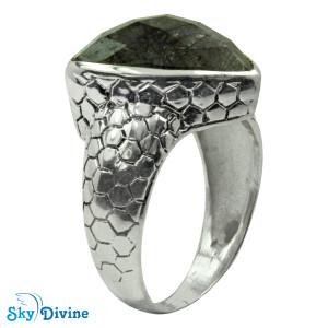925 Sterling Silver Black Rutile Ring SDR2163 SkyDivine Jewelry RingSize 7 US