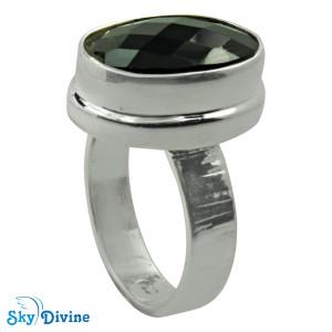925 Sterling Silver Black Onyx Ring SDR2182 SkyDivine Jewellery RingSize 7.5 US