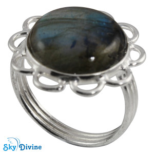 Sterling Silver Labradorite Ring SDR2108 SkyDivine Jewellery RingSize 6 US