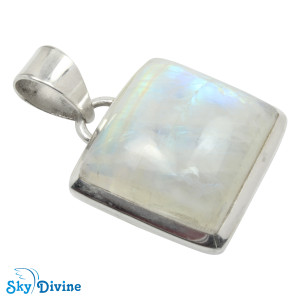 925 Sterling Silver Rainbow moon Stone Pendant SDAPN08 SkyDivine Jewellery