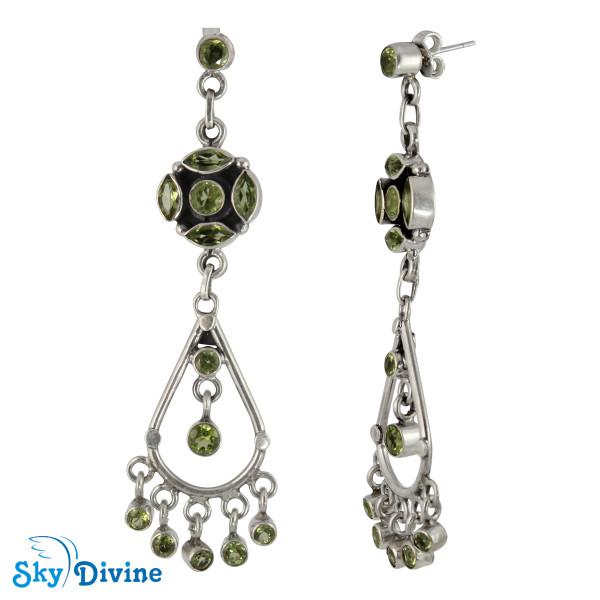 Sterling Silver peridot Earring SDAER25a SkyDivine Jewellery Image2