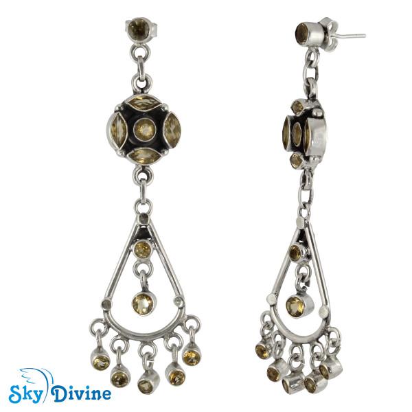 925 Sterling Silver Citrine Earring SDAER25b SkyDivine Jewellery Image2