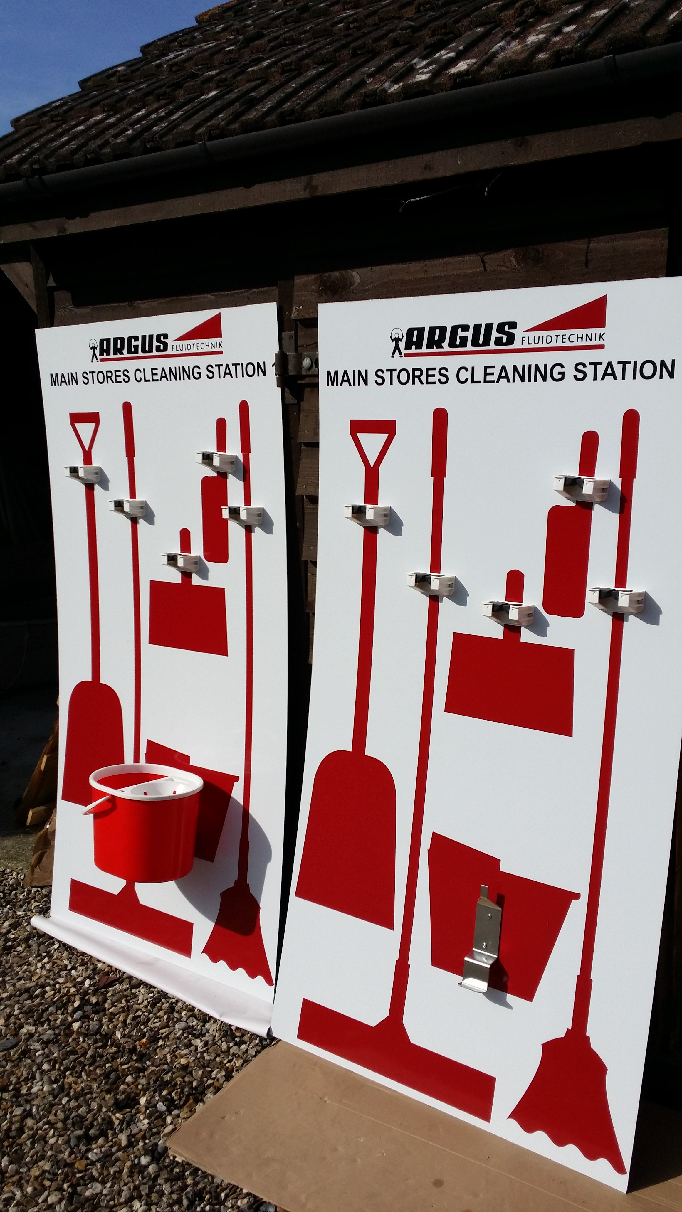 Shadow Board Branded Cleaning Station