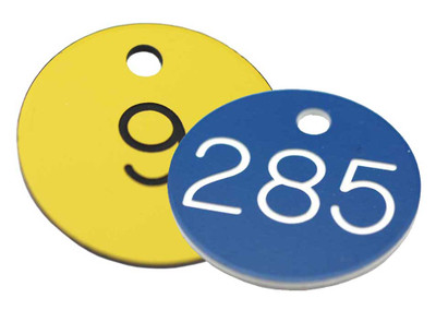 Standardised 50mm diameter Traffolyte Valve Tags Pack of 25