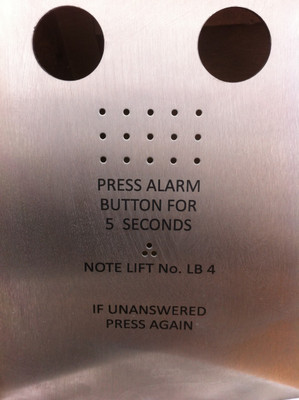 Lift Panel Engraving
