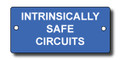 Intrinsically Safe Circuit engraved label