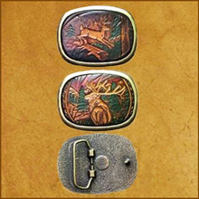 Tooled Wildlife Belt Buckles