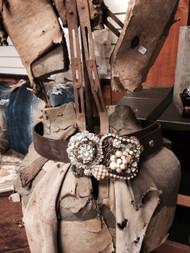 Custom couture vintage belt buckles