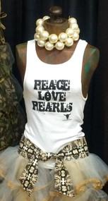 Peace Love Pearls Tank