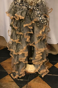 Custom Camo and Vintage Lace Bustle Skirt