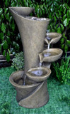 "33"" Spiral Floor Fountain GRN208"