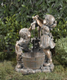 Children Playing w/Pump & Bucket Fountain GRN418