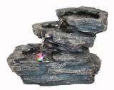 Three Steps Rock Tabletop Fountain w/ LED Lights
