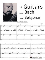 Prelude in C Major, Book 1 Well Tempered Clavier by Bach/Belajonas