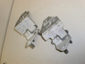 1998-2002 Jaguar XJ8 Vanden Plas Left Front Door Hinges Top Bottom Set AXX 001697 AXX 001685 White