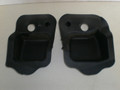 1994-1998 Ford Mustang Coupe Front Seat Belt Seatbelts Quarter Panel Pocket Shield Seal Set Left & Right F6ZB-6331065-AA F6ZB-6331064-AA