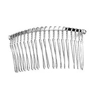 Metal Wire Comb Rhodium Plated
