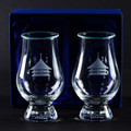 Contemporary Whisky Glass c/w watch glass cover x 2