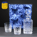 Traditional Crystal Whisky Set in Satin Box
