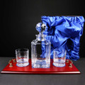 Regal Wooden Tray Whisky set in Satin Box