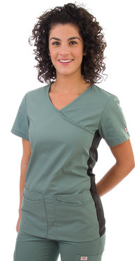 Shown in OR Green. Model is wearing size Small.