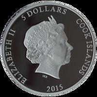"2015 PREDATOR PREY .999 Silver Coin w/ Palladium $5 ""Grizzly Bear vs Salmon"""