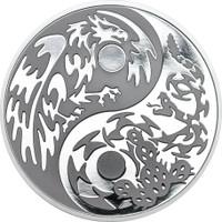 "2016 PREDATOR PREY .999 Silver Coin w/ Palladium $5 ""Eagle vs Snake"""