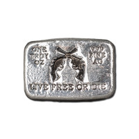 """(10x) 1 oz Hand Pour Silver Bar STACKERS MINT Series """"LIVE FREE OR DIE"""" 2016"""