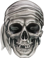2017 PIRATE SKULL #1 .999 Silver 1 oz Coin Palau $5 COA and box