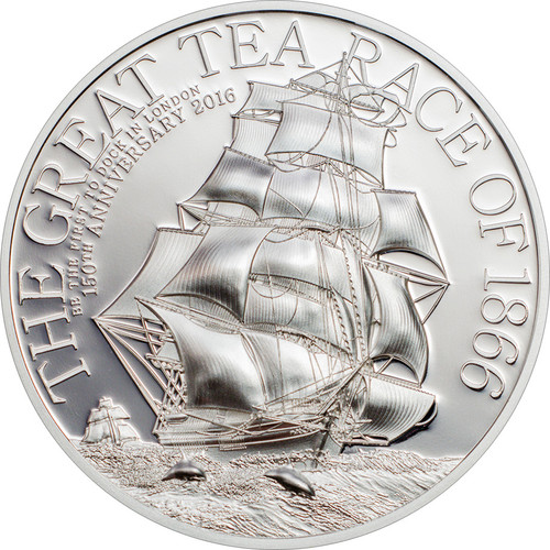 2016 The Great Tea Race of 1866 $2 Silver Coin - Cook Islands